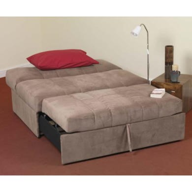 Sweet Dreams Marlie 2 Seater Sofa Bed in Latte