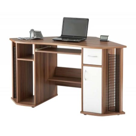 Alphason Designs Lyndon Corner Desk in Walnut