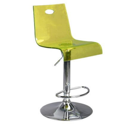 Eliza Tinsley Fab High Back Gas Lift Bar Stool Yellow