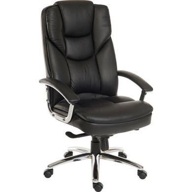 Teknik Office Claude Leather Faced Executive Chair in Black