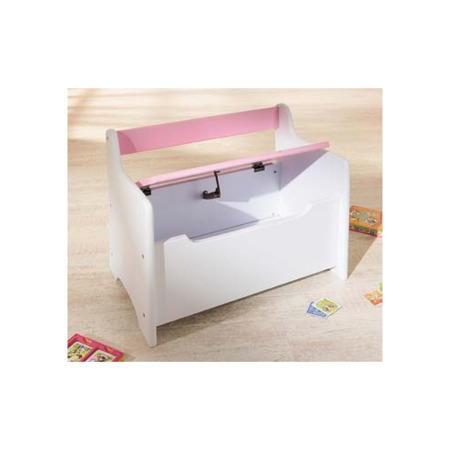 Interlink Isabella Pink And White Childrens Storage Bench