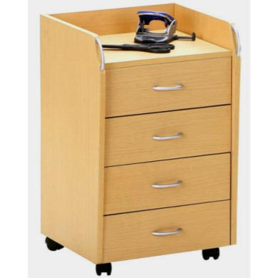 Interlink Liam Narrow Mobile Chest in Beech