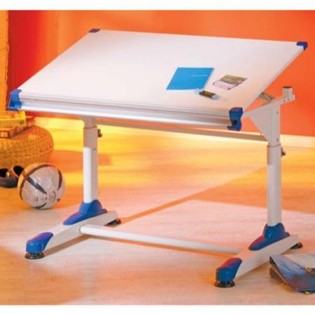 Interlink Arden Kids Adjustable Desk In White And Blue