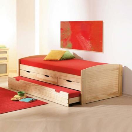 Interlink Bop Solid Pine Continental Single Storage Trundle Guest