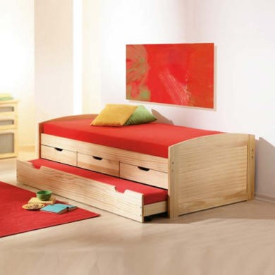 single bed with storage and trundle 2