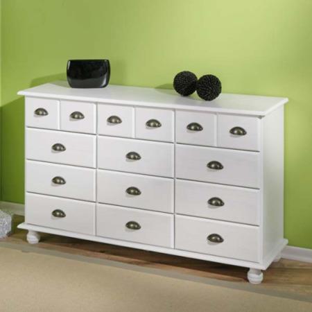 interlink tucker solid pine white pine 9 6 drawer. Black Bedroom Furniture Sets. Home Design Ideas