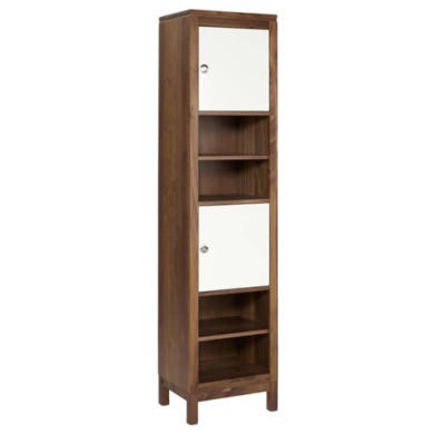 LPD Strata Solid Walnut 2 Door Display Cabinet