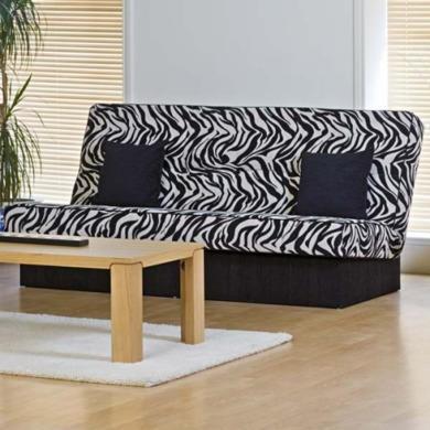 Kyoto Futons Chicago 3 Seater Zebra Print Sofa Bed Furniture123