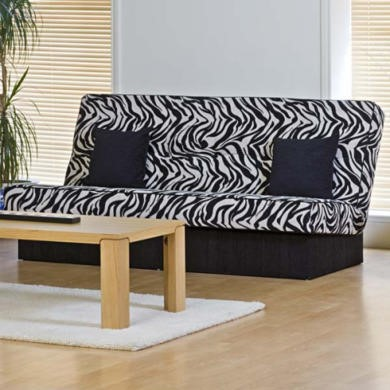Kyoto Futons Chicago 3 Seater Zebra Print Sofa Bed