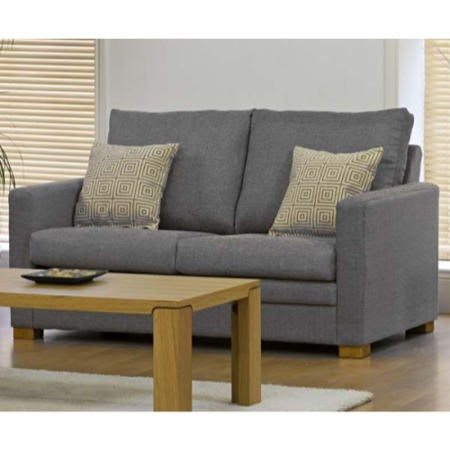 Kyoto Futons Payton 2 Seater Sofa Bed In Grey With Pocket Sprung Memory Foam Mattress