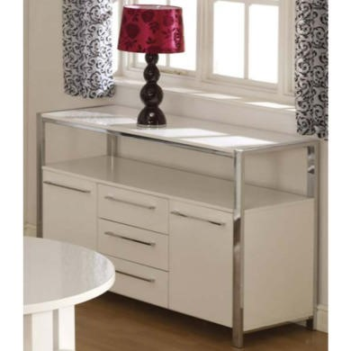 Seconique Charisma High Gloss 2 Door Sideboard in White