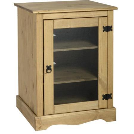 Seconique Original Corona Pine Hi Fi Cabinet Furniture123