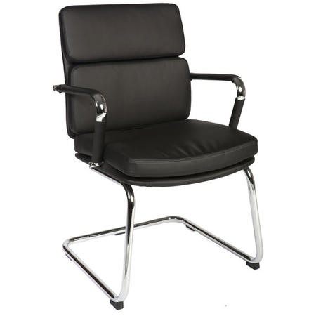 Teknik Office Miller Faux Black Leather Visitors Chair