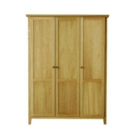 Morris Furniture Avenue Solid Oak 3 Door Wardrobe Furniture123