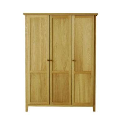 Morris furniture avenue solid oak 3 door wardrobe for Furniture 123 wardrobes