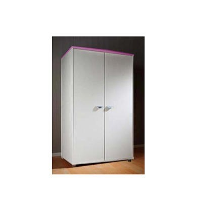 Stompa Combo Kids White 2 Door Wardrobe in Lilac