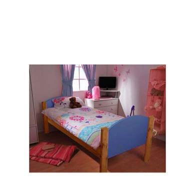Stompa Solo Kids Natural Single Bed Frame in Blue