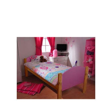 Stompa Solo Kids Natural Single Bed Frame in Lilac