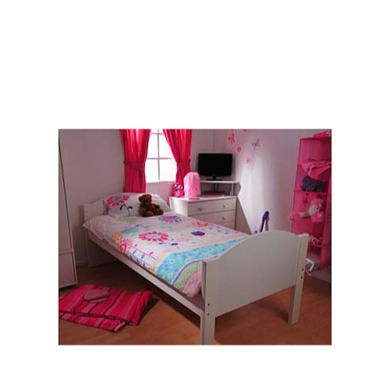 Stompa Solo Kids White Single Bed Frame