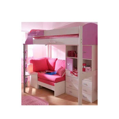 Stompa casa kids white highsleeper bed in lilac with pink for Pink sofa login