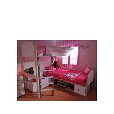 Stompa Casa Kids White Storage Bunk Bed
