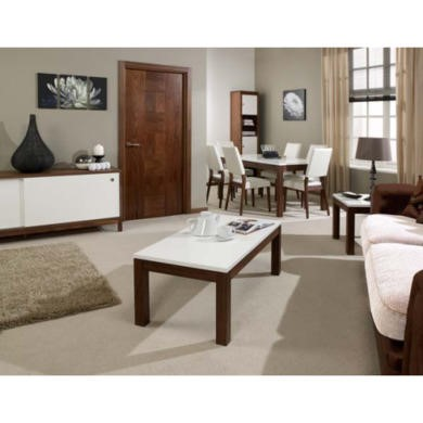 high gloss living room furniture uk lpd strata solid walnut and high gloss living and dining 27052