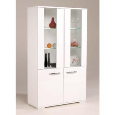 Parisot Sirius White Display Cabinet | Furniture123
