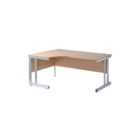 Dams Furniture Momento Left Facing Radial Corner Desk In