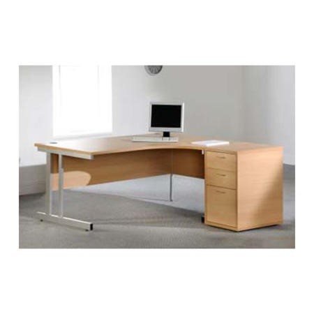 Dams Furniture Momento Right Facing Radial Corner Desk Office Set