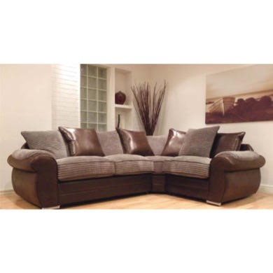 Buoyant Upholstery Lux Right Facing Corner Sofa in Brown