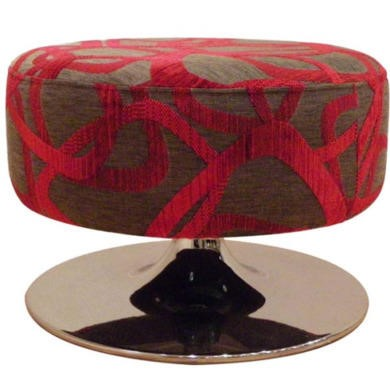 Buoyant Upholstery Orbis Swivel Footstool in Red