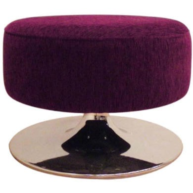 Buoyant Upholstery Orbis Swivel Footstool in Purple