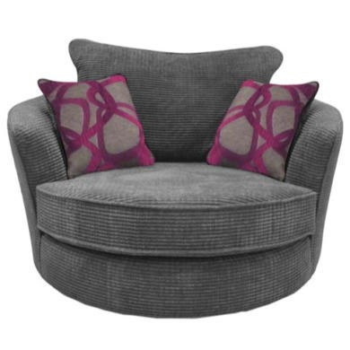 Buoyant Upholstery Paris Snuggle Armchair in Grey ...