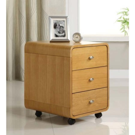 Jual Furnishings Nida 3 Drawer Office Storage Chest in Oak ND201