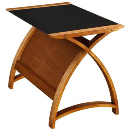 Jual furnishings delta 90cm laptop desk in walnut and for Furniture 123
