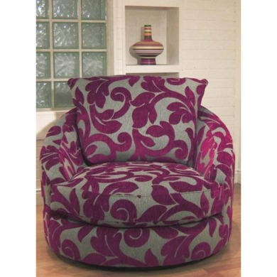 Buoyant Upholstery Blinx Swivel Chair in Purple