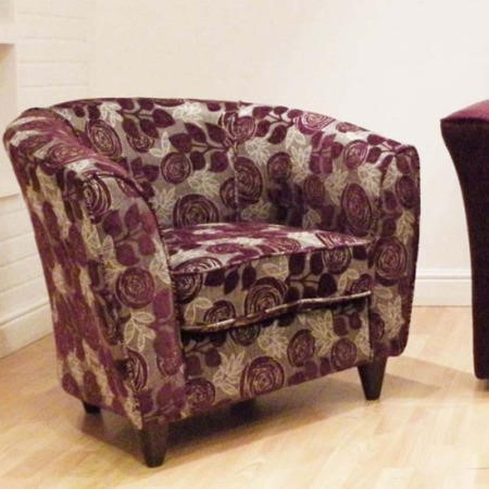 Buoyant Upholstery Mary Tub Chair In Aubergine