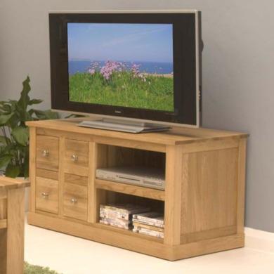 Baumhaus Mobel Solid Oak DVD Storage TV Cabinet