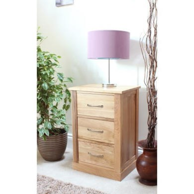 baumhaus mobel solid oak 3 drawer bedside table baumhaus mobel solid oak 3