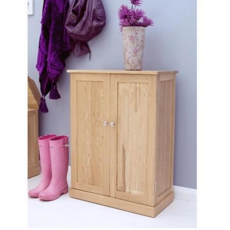 baumhaus mobel solid oak shoe storage cabinet 15 pairs fol066890