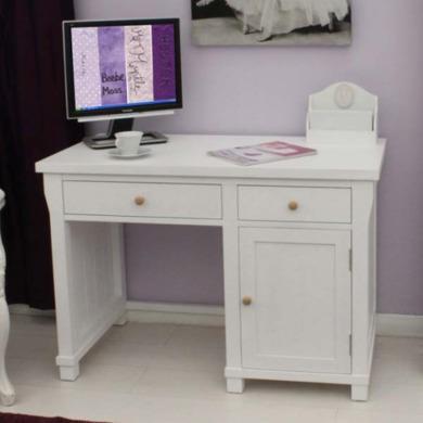 Baumhaus Hampton White Solid Ash Desk