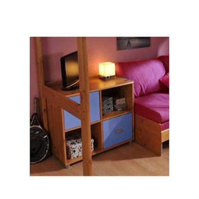 FOL067006 Stompa Combo Kids Natural 2 Door 4 Shelf Storage Cubes in Blue