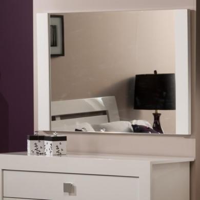 World Furniture Bari High Gloss White Mirror