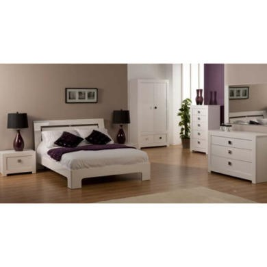 world furniture bari high gloss white bedroom set double