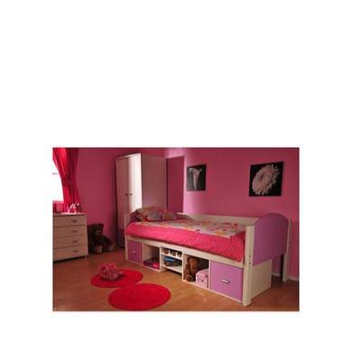 Stompa Rondo Kids White Storage Single Bed Frame Chest and Wardrobe Furniture Set
