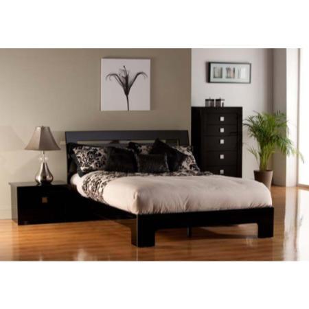 World Furniture Modena High Gloss Black Bedroom Set Kingsize Bedroom Set Furniture123