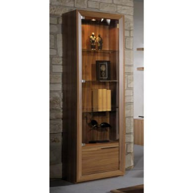 Sciae Liscia Display Cabinet in Plum Tree