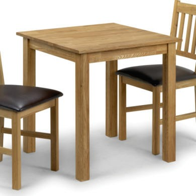 Julian bowen coxmoor solid oak square dining table for Furniture 123