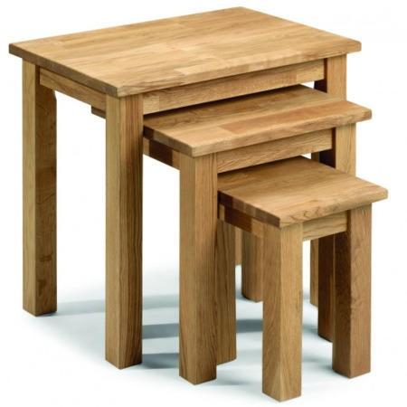 Julian Bowen Coxmoor Solid Oak Nest Of Tables Furniture123