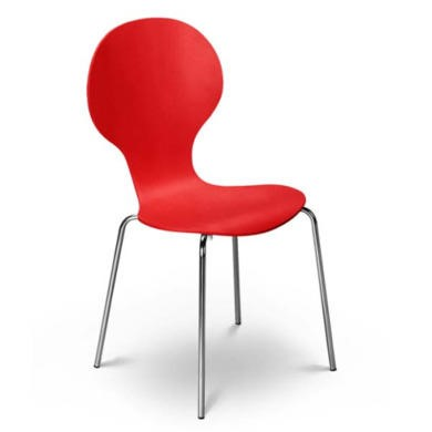 Julian Bowen Keeler Chair in Red